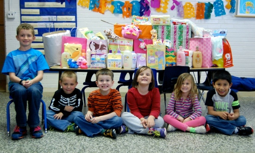 AlphaBEST students donated baby items to local community organization.