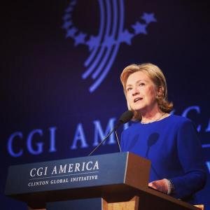 Hillary Clinton at the 2014 Clinton Global Initiative