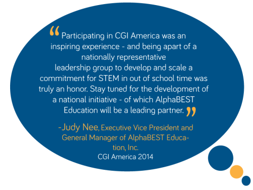AlphaBEST Education Judy Nee on Clinton Global Initiative 2014
