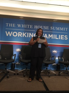AlphaBEST Shawnta Jones at the 2014 White House Summit on Working Families