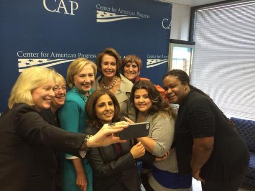 AlphaBEST selfie with Hillary Clinton at the Center for American Progress